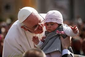 Pope kissing baby